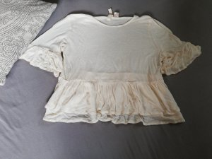 H&M Flounce Top natural white