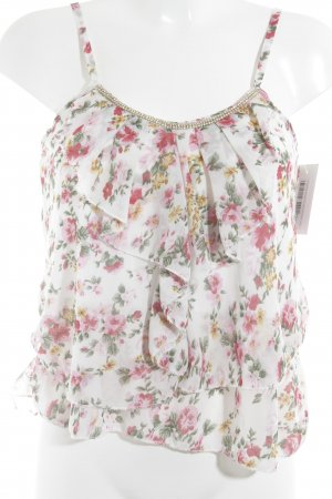 Flounce Top floral pattern romantic style