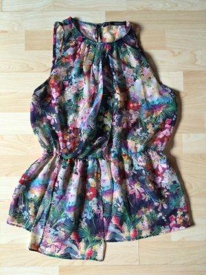 Zara Flounce Top multicolored