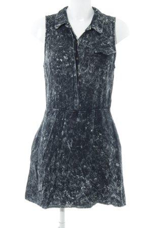 Volcom Blusenkleid schwarz-grau Farbtupfermuster Street-Fashion-Look