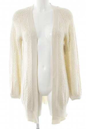 Volcom Cardigan creme Zopfmuster Casual-Look