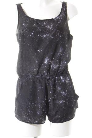 Volcom Jumpsuit schwarz-weiß Galaxymuster Street-Fashion-Look
