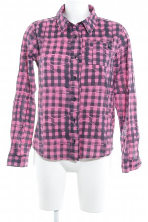 Volcom Long Sleeve Shirt pink-black check pattern casual look
