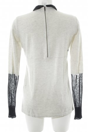 Volcom Long Sweater cream-black college style