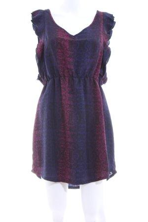 Volcom Minikleid blau-lila Streifenmuster Casual-Look