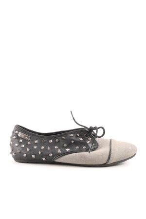 Volcom Chaussure Oxford blanc cassé-noir style décontracté