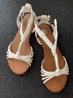Volcom Sandalo con cinturino bianco