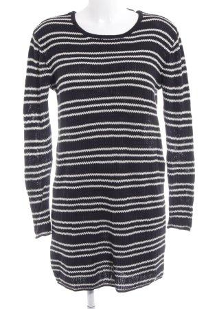 Volcom Abito di maglia nero-bianco motivo a righe stile casual