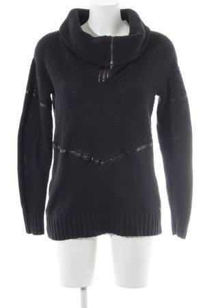 Volcom Strickpullover schwarz-dunkelblau Casual-Look