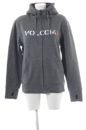 Volcom Sweatjacke Schriftzug gestickt Casual-Look