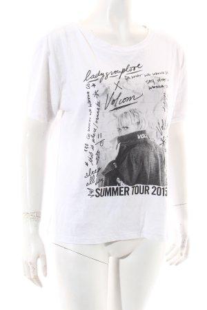 Volcom T-Shirt weiß-schwarz Schriftzug gedruckt Casual-Look