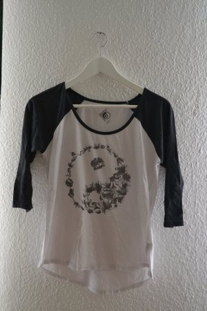 Volcom Three-Quarter-Sleeve Baseball Tee Ying Yang Blumen