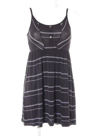 Volcom Trägerkleid schwarz-weiß Streifenmuster Casual-Look