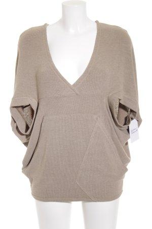 Volcom V-Ausschnitt-Pullover graubraun Casual-Look
