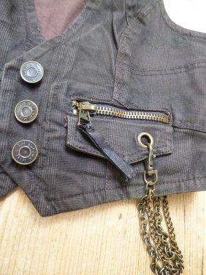 Denim Vest bronze-colored-rose-gold-coloured cotton