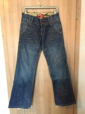 Voll lässige Cargo Jeans der Marke Kenvelo Größe: 29/32 kleinen Brandloch