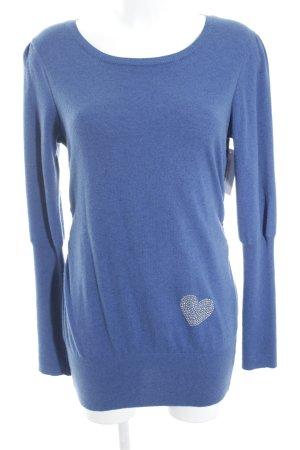 volpato Long Sweater steel blue fluffy