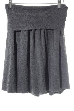 volpato Wool Skirt dark grey minimalist style