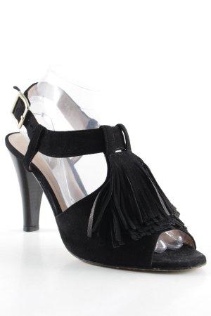 Voltan High Heel Sandaletten schwarz-goldfarben Elegant