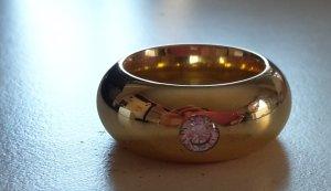voluminöser Bandring Edelstahl vergoldet