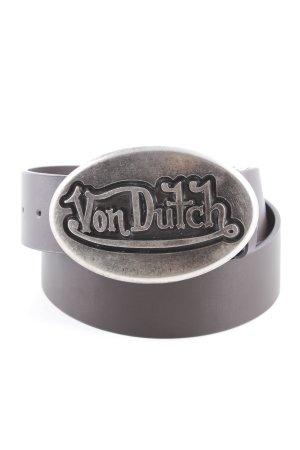 von Dutch Ledergürtel silberfarben-schwarzbraun extravaganter Stil
