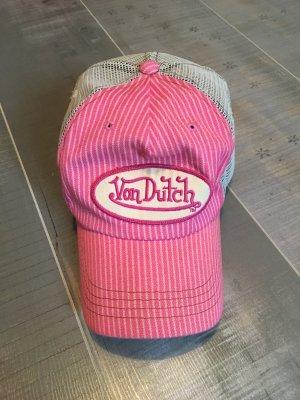 Von Dutch Mütze Cap rosa Streifen