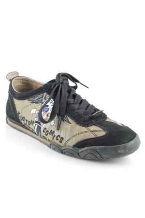 von Dutch Sneakers met veters zwart-lichtbruin Comic-patroon atletische stijl