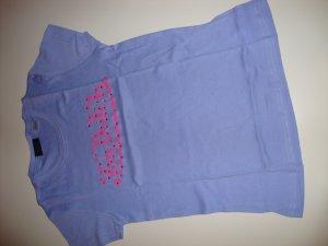 Von Dutch USA Glitzer Top Shirt Logo T-Shirt Gr. S M L 36 38 edel blau pink neu