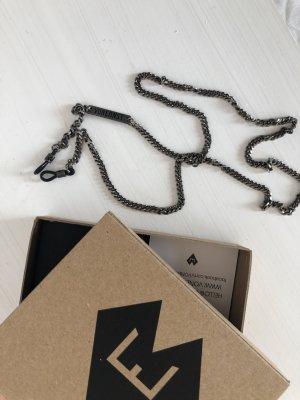 Von Ernst Brillenkette Antik Silber Look neu und ungetragen Panzerkette