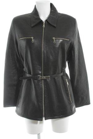 Von Holdt Leather Jacket black leather-look