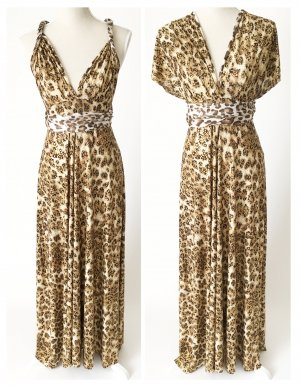 Maxi-jurk zwart-goud