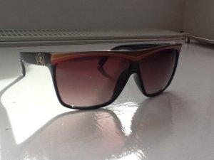 Von Zipper Sonnenbrille mit Goldrand und großen Gläsern