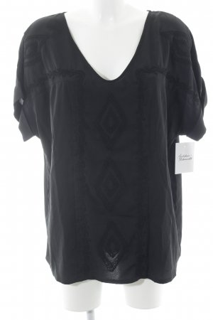 Votre Mode Short Sleeved Blouse black casual look