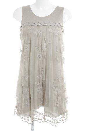 Votre Mode Spitzenkleid beige Blumenmuster Romantik-Look