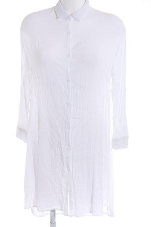 Voyelles Camicetta lunga bianco sporco stile casual