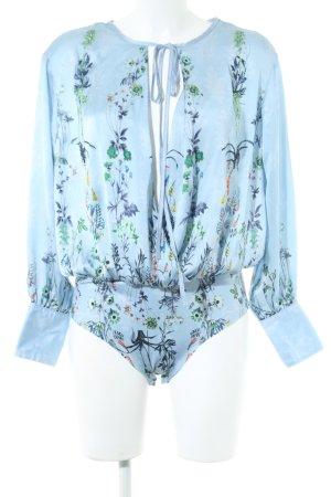 VS Bodyblouse blauw bloemenprint elegant