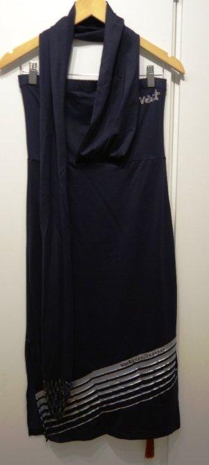 VSCT Kleid Bandeau-Kleid mit Schal schwarz Gr. M (38) Lagenlook