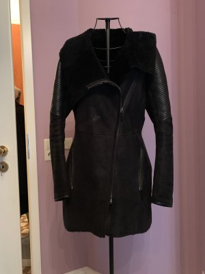 Leather Coat black leather