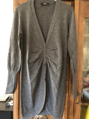 w. Neu Nice Connection Wolle/Cashmere Cardigan grau Gr 38