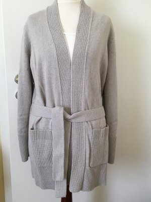 w. Neu Tory Burch Cardigan light grey Melange Gr S