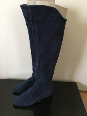 Unützer Stretch laarzen leigrijs-donkerblauw