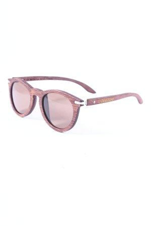 W/Sun ovale Sonnenbrille braun Street-Fashion-Look