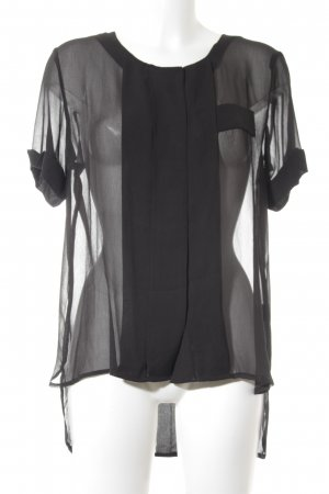 "W118 by Walter Baker Blouse transparente ""Suzanna Top"" noir"