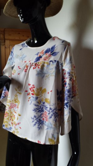W5, hübsche Bluse mit offenem Ärmel gemustert, Gr.S, NEU