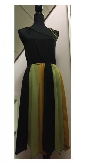 One Shoulder Dress multicolored synthetic fibre