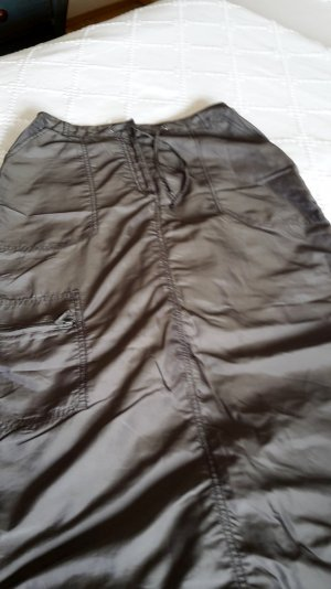 H&M Jupe cargo kaki tissu mixte