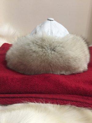 Fur Hat white-light grey
