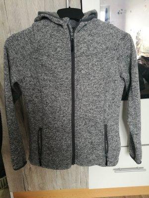 Coarse Knitted Jacket light grey