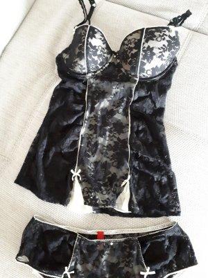 edc Set lingerie nero-beige chiaro
