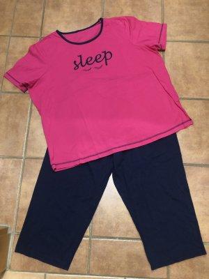 Pijama azul oscuro-rosa